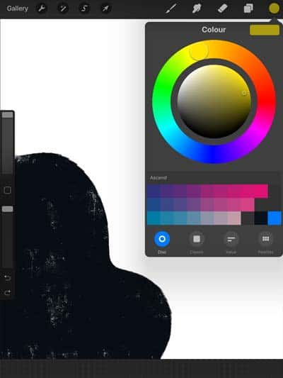 How to use Procreate by Blackwater Studios - Colour Options
