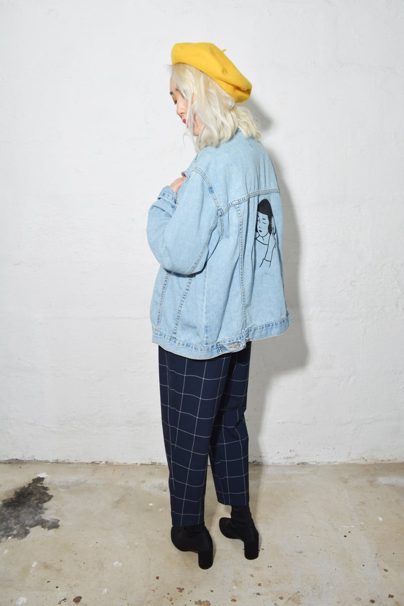 Self Care Denim Jacket Embroidery by Tallulah Fontaine