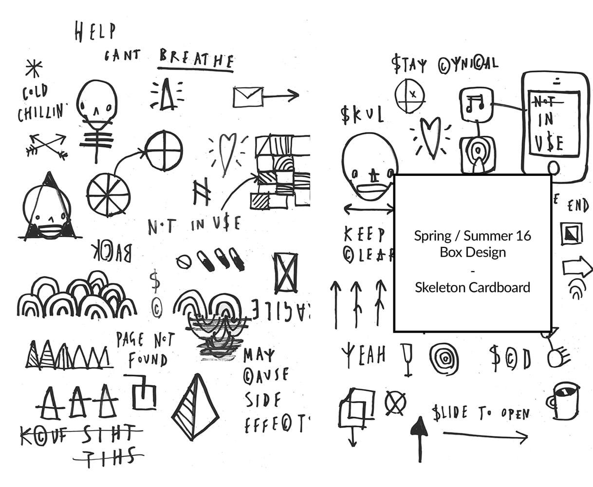 SS16 Box Design by Skeleton Cardboard