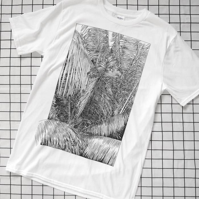 Cat Sims Palms T Shirt - 50 Deal