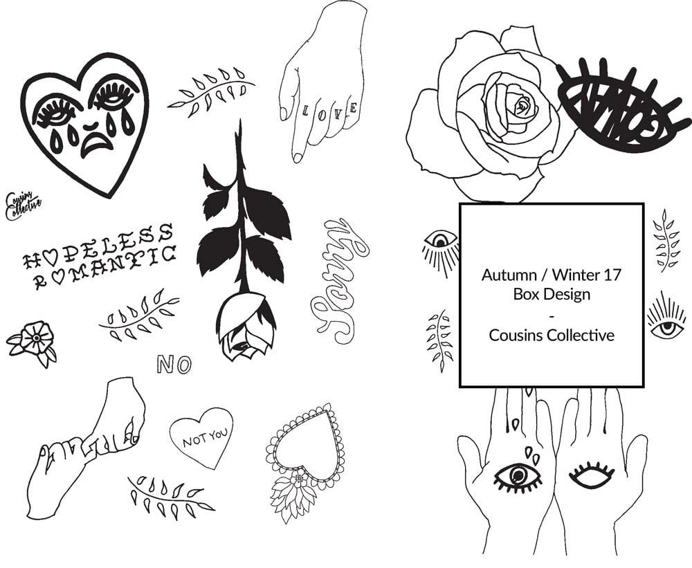 Cousins Collective AW17 Box design