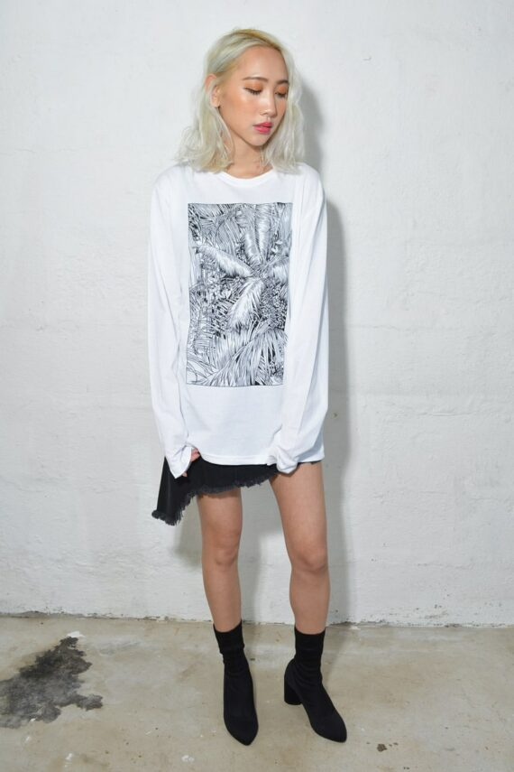 Palm Trees Long Sleeve T Shirt by Cat Sims