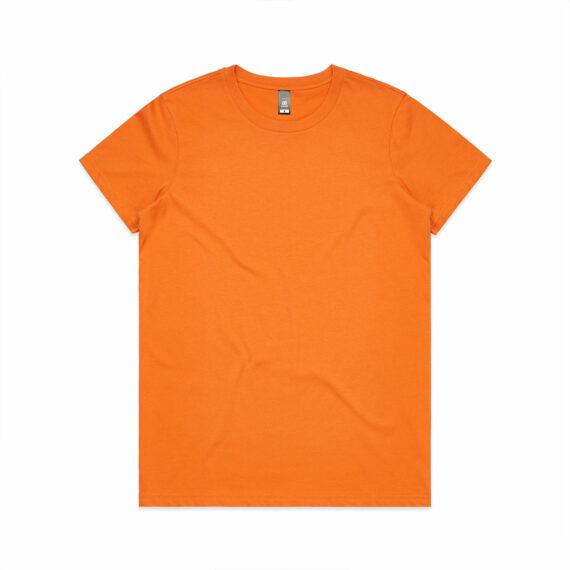 AS Colour 4001 Women's Maple Tee Orange Front