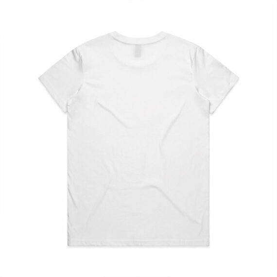 AS Colour 4001 Women's Maple Tee White Back