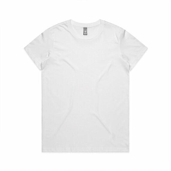 AS Colour 4001 Women's Maple Tee White Front