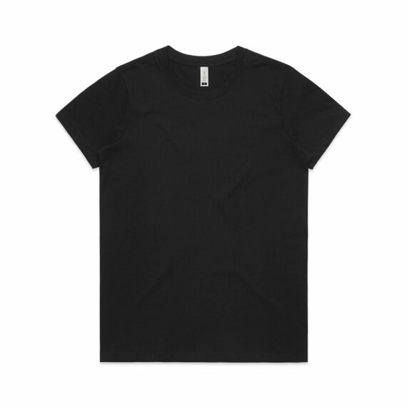 AS Colour 4001G Women's Maple Organic Tee Black Front