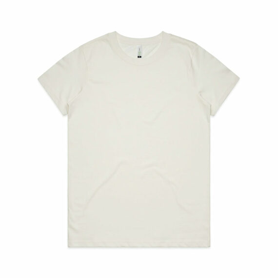 AS Colour 4001G Women's Maple Organic Tee Natural Front