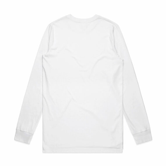 AS Colour 5029G Mens Base Organic Long Sleeve Tee White Back