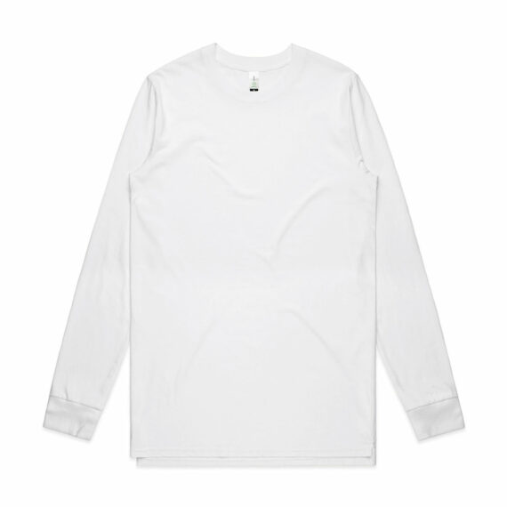AS Colour 5029G Mens Base Organic Long Sleeve Tee White Front