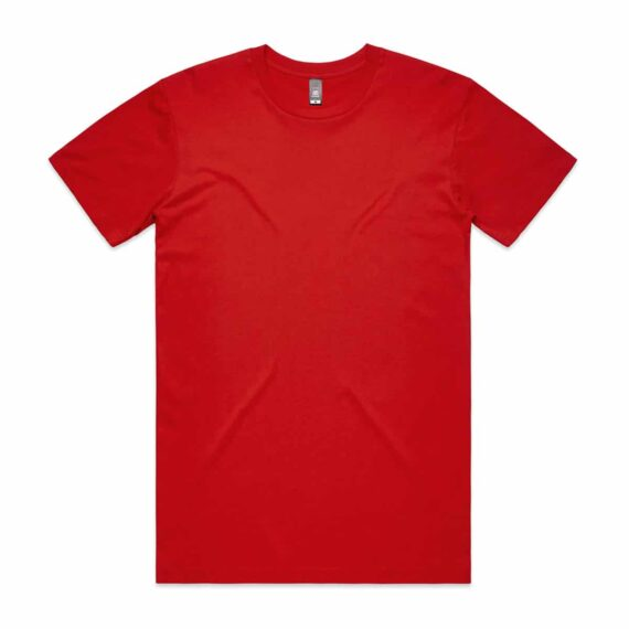 AS Colour 5001 Mens Staple Tee Red Front