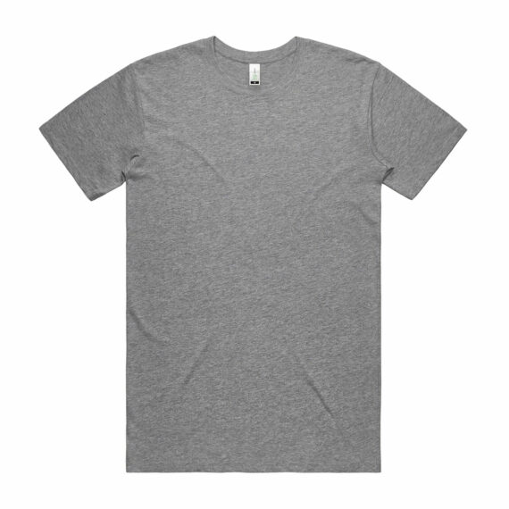 Front of Athletic Heather AS Colour 5001G Mens Staple Organic Tee