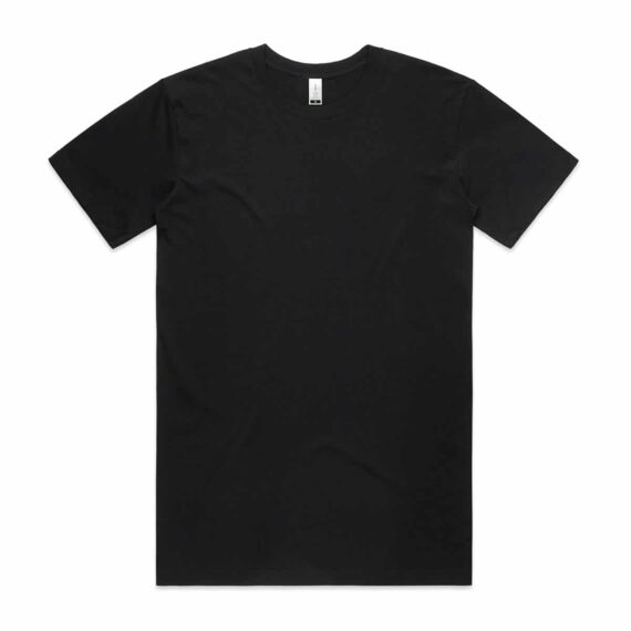 Front of Black AS Colour 5001G Mens Staple Organic Tee