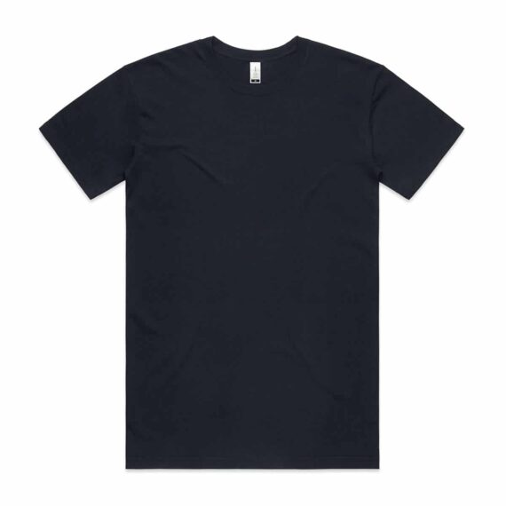 Front of Navy AS Colour 5001G Mens Staple Organic Tee