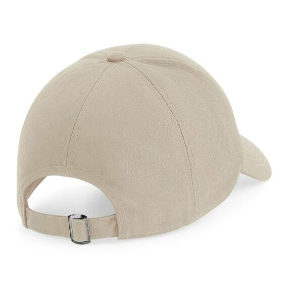 Rear View of Sand BB54 Organic Cotton 6 Panel Cap