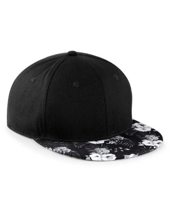 Beechfield 6 Panel Graphic Peak Snapback Cap - Mono Hawaiian