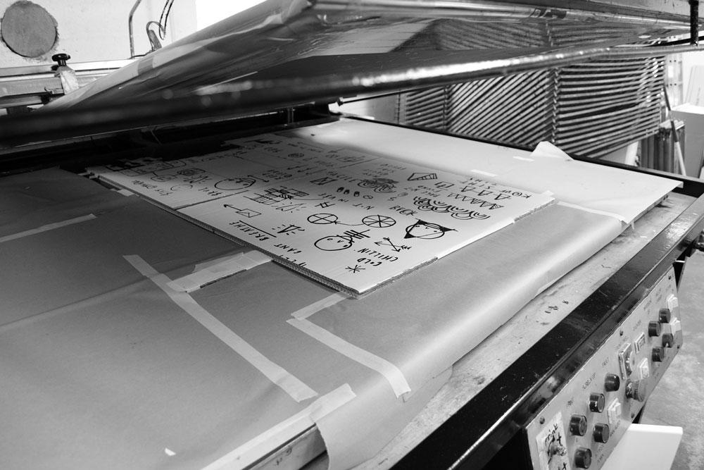 Box by Skeleton Cardboard being printed