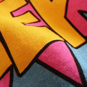High Quality Waterbased Printing Close Up