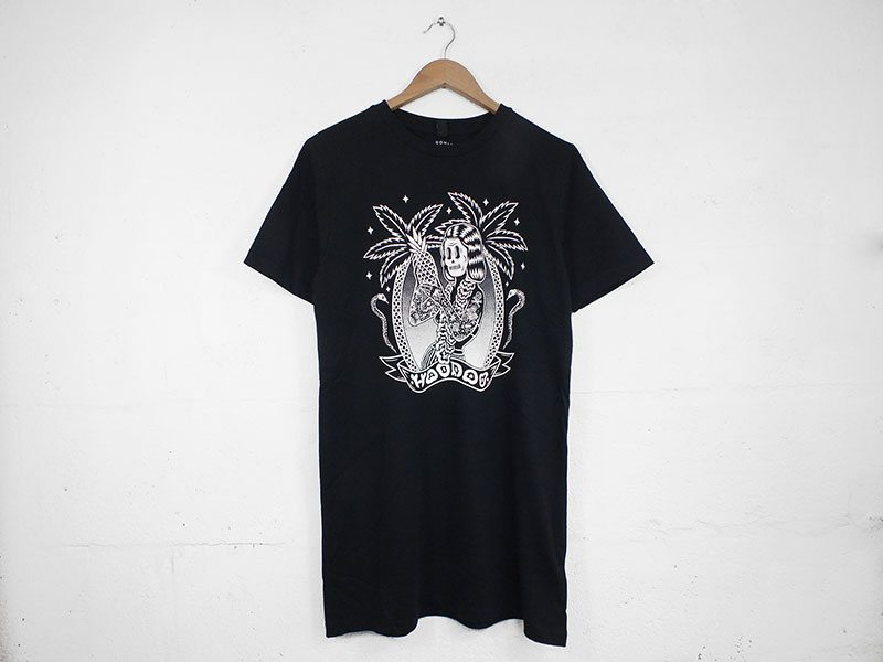 Hoodoo Illustration by Bene Rohlmann Screen Printed onto Black T Shirts