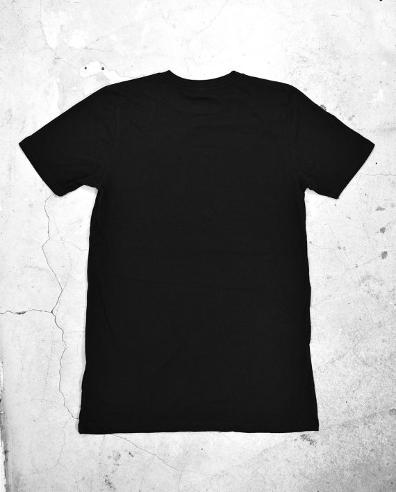 Back of Blank Black T Shirt