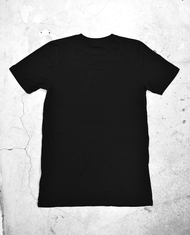 Back of Blank Black T Shirt