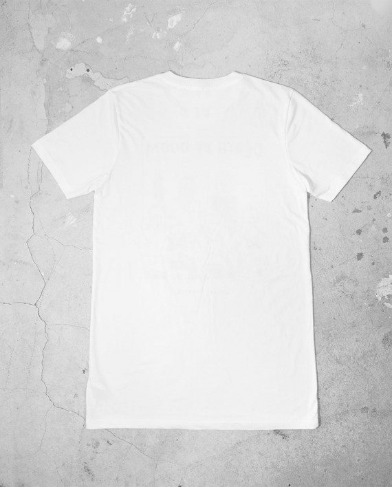 Back of Blank White T Shirt