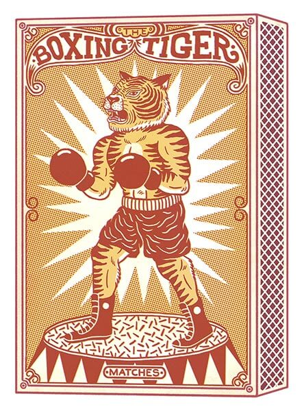 Boxing Tiger Matches by Bene Rohlmann