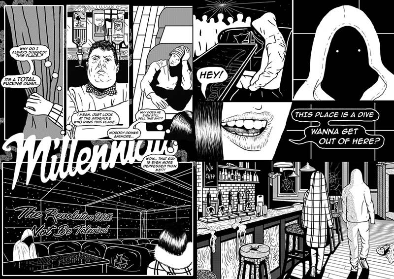 Black Matter Page Spread Illustration by Cat Sims