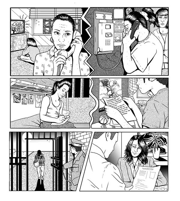Women in Prison Illustration by Cat Sims