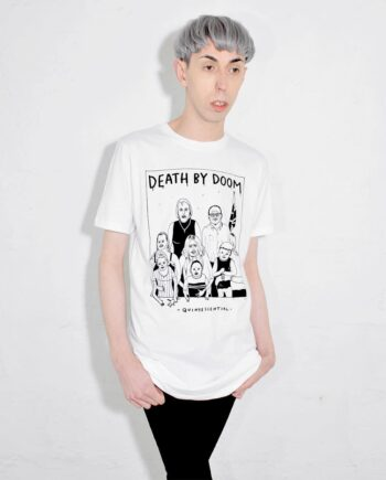 Death by Doom T Shirt Illustration Designed by Jim Hollingworth