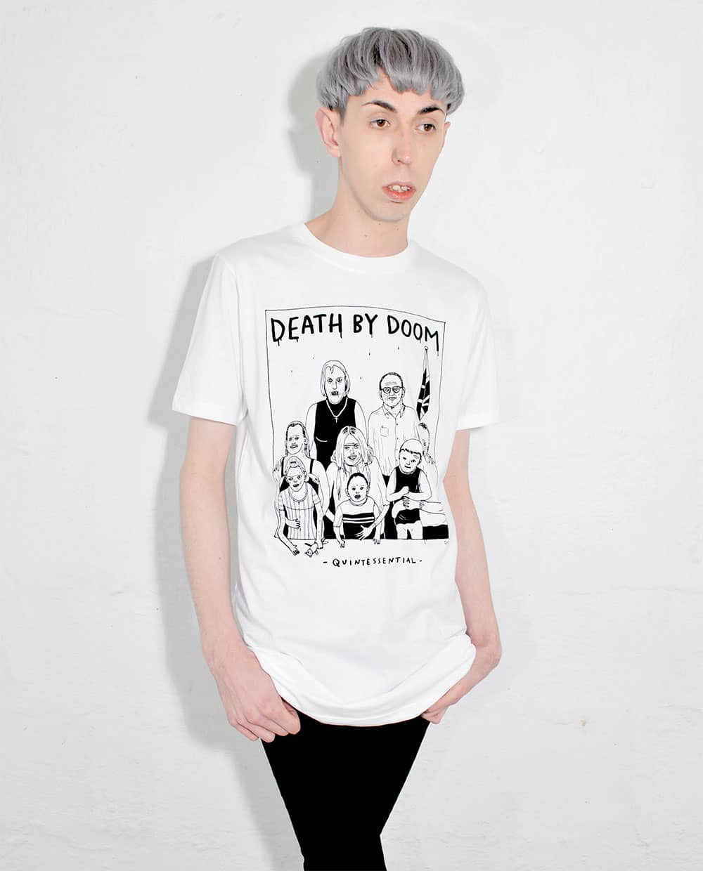 Death by Doom T Shirt Illustration Designed by Jim Hollingworth