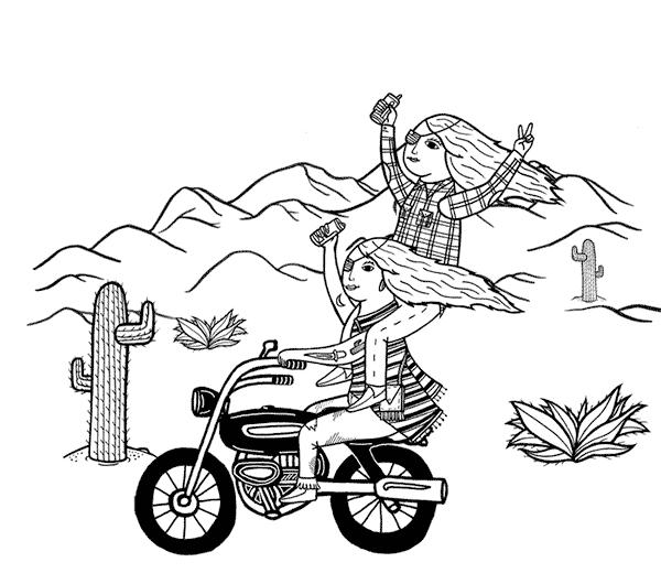 Desert Harpies Illustration by Michael C. Hsiung