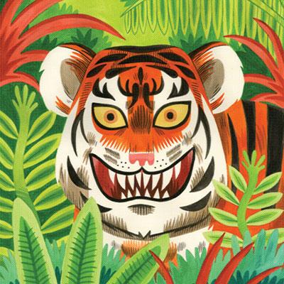 Digital print of tiger designed by Jack Teagle