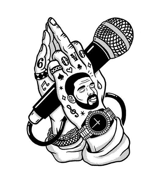 Drake Illustration by Bene Rohlmann