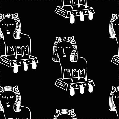 Screen Printing Illustration - Milk by Engin Oztekin