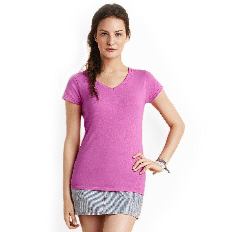 a6b51a2640f8 GD78 - Gildan SoftStyle Ladies V Neck T Shirt | Blackwater Studios