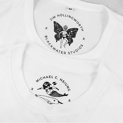 Illustrations Screen Printed Inside Neck