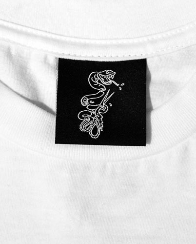 Sample Store Snake Woven Label