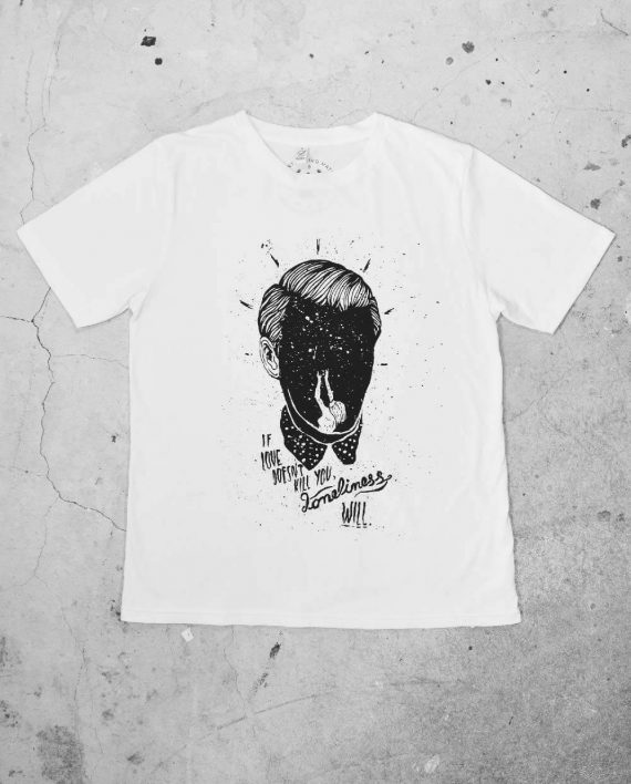 Front of Loneliness Regular Cut T Shirt by Ivo Matić