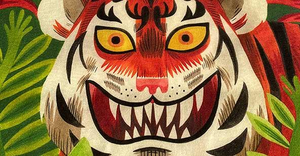 Tiger Face Digital Print by Jack Teagle