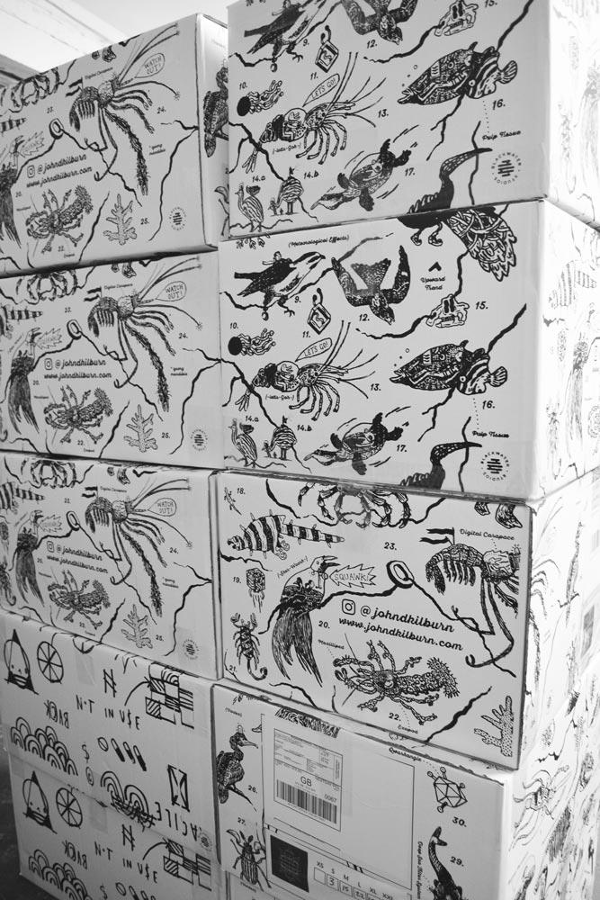 John kilburn's boxes stacked up