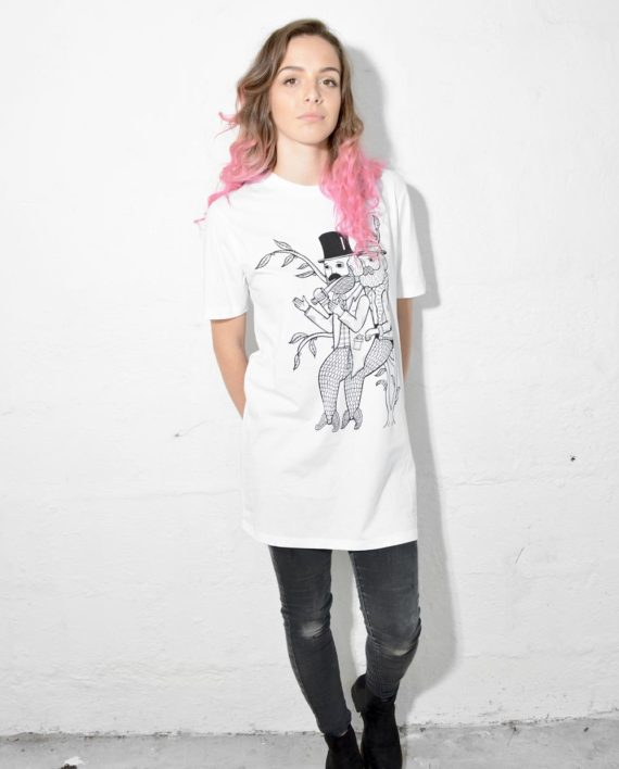 Model wearing Merman Mugging T Shirt