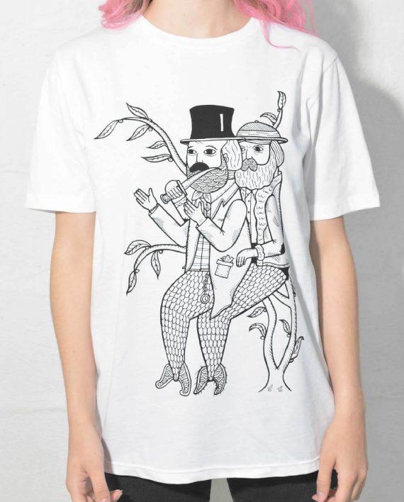 Merman Mugging T Shirt Illustration Designed by Michael C. Hsiung