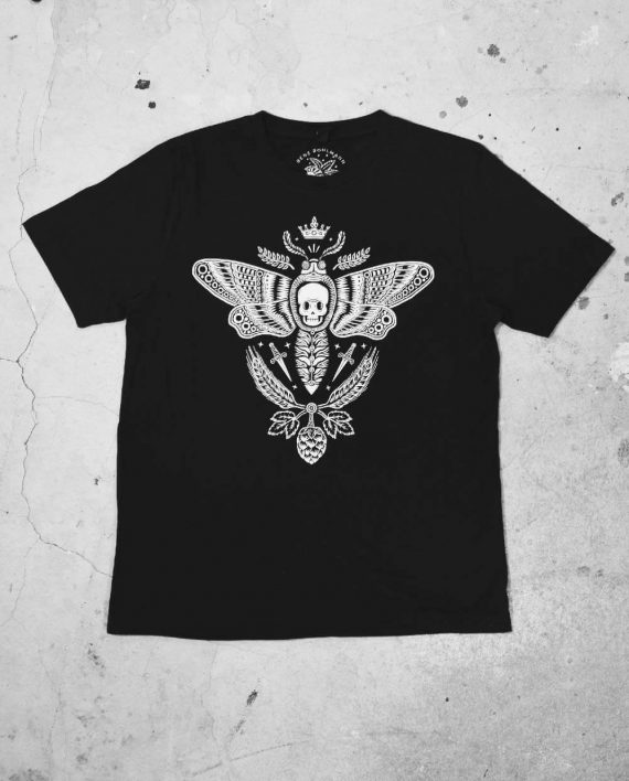 Front of Moth Regular Cut T Shirt by Bene Rohlmann
