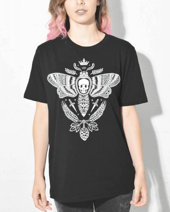 Moth T Shirt Illustration Designed by Bene Rohlmann