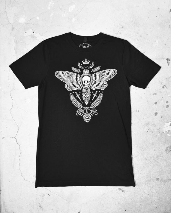 Front of Moth T Shirt by Bene Rohlmann