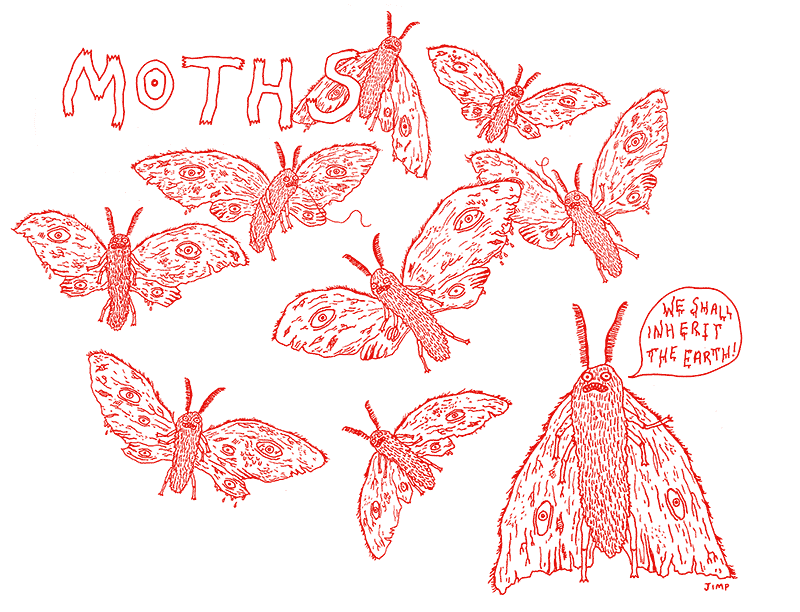Moths Shall Inherit The Earth Illustration by Jim Hollingworth
