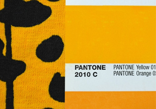 Printed ink matched to Pantone
