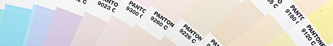 Crop of Fanned Pastel Pantone Book Pages