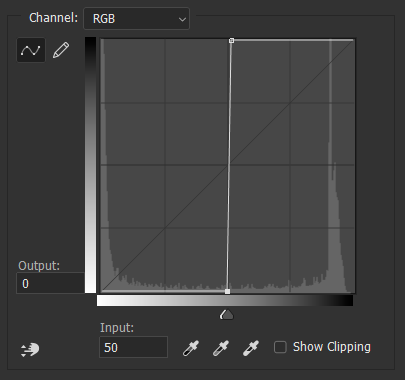 Bring Photoshop Curves to Center for Sharp Print Edges