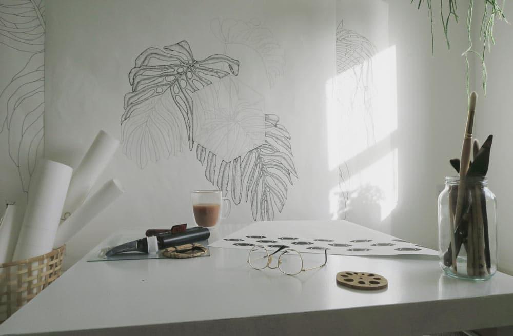 Victoria's Print Making Studio